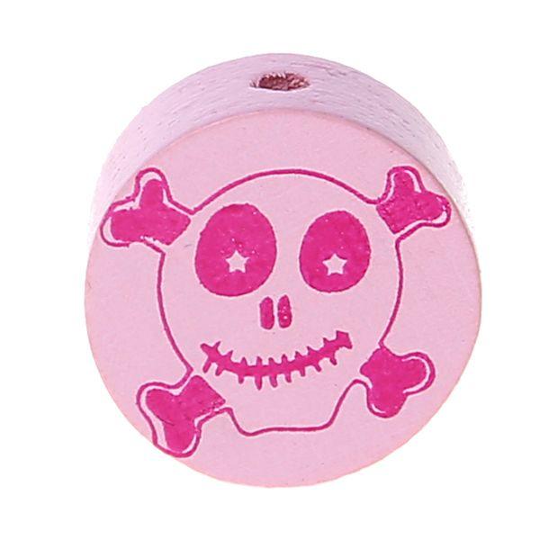 Motivperle Scheibe Happy Skull 'rosa' 516 auf Lager