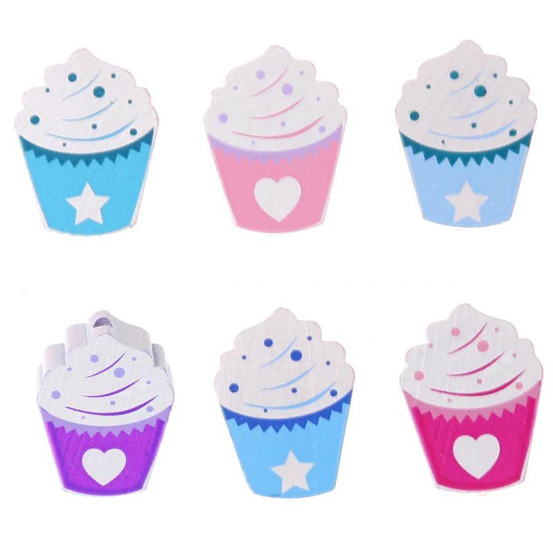 Motivperle Cupcake 'skyblau-blau' 171 auf Lager