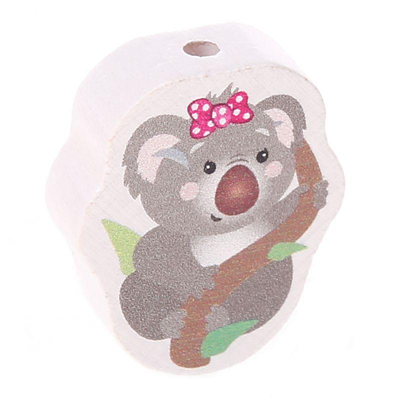 Motivperle Koala 'Schleife pink' 0 auf Lager