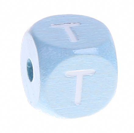 Buchstabenperlen babyblau 10x10mm 'T' 428 auf Lager