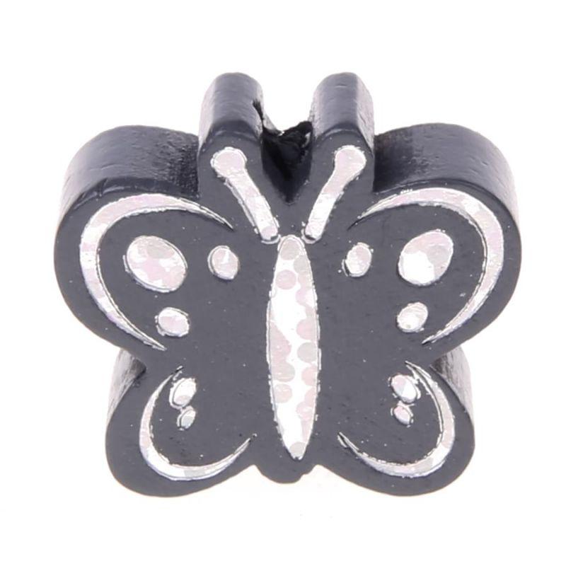 Motivperle Schmetterling Glitzer 'grau' 316 auf Lager