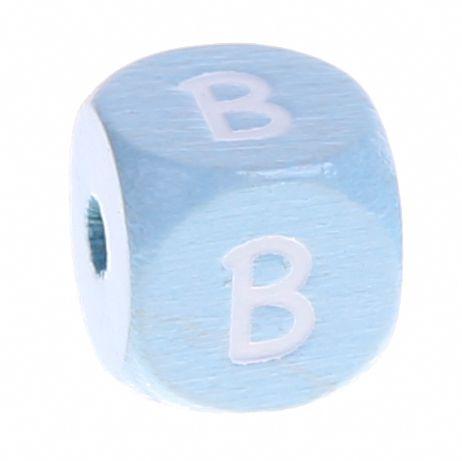 Buchstabenperlen babyblau 10x10mm 'B' 643 auf Lager