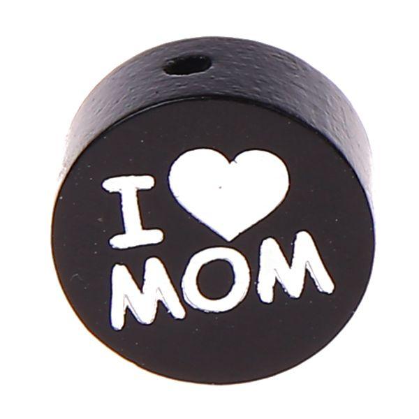 Motivperle I Love MOM / DAD 'schwarz' 508 auf Lager