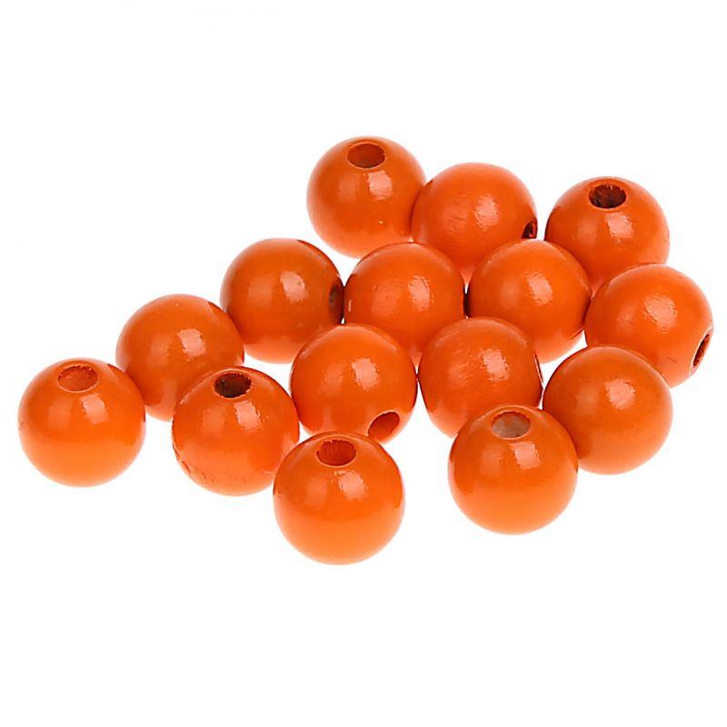Holzperlen 10mm • 50 Stück 'mandarin' 0 auf Lager