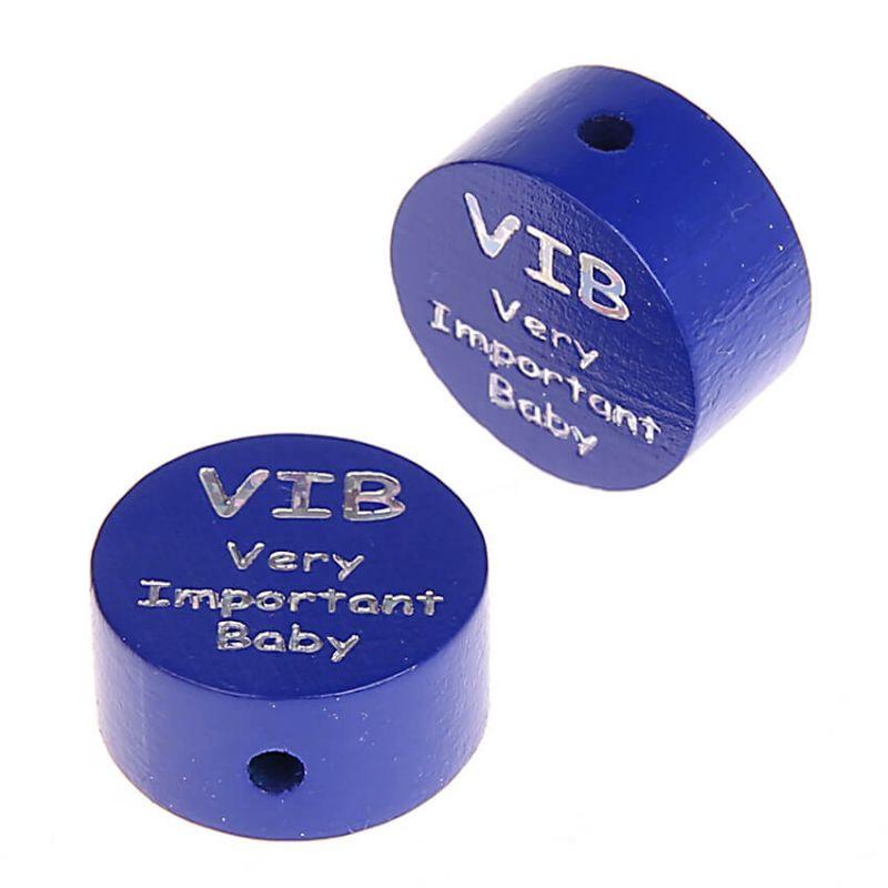 Motivperle Scheibe VIB Very Important Baby 'dunkelblau' 2390 auf Lager
