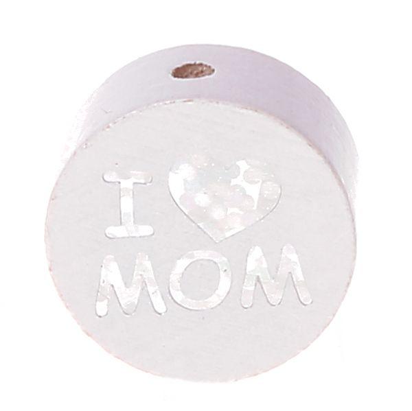 Motivperle I Love MOM / DAD 'weiß' 1222 auf Lager