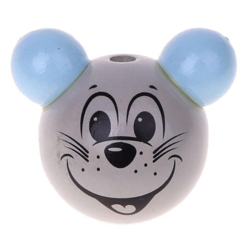 Motivperle 3D Maus 'babyblau' 615 auf Lager