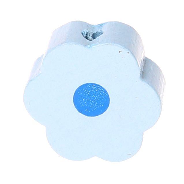 Motivperle Blume-Punkt 'babyblau' 580 auf Lager