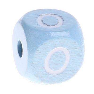 Buchstabenperlen babyblau 10x10mm 'O' 920 auf Lager