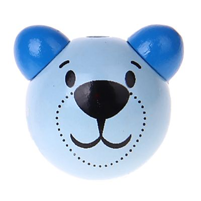 Motivperle 3D Bärchen 'babyblau-blau' 0 auf Lager