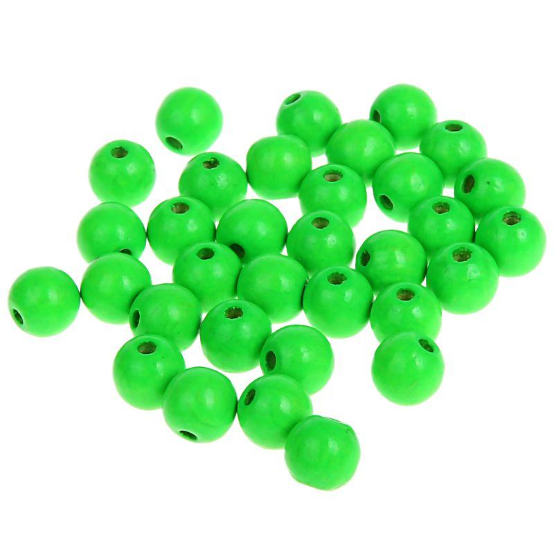 Neonperlen 8mm • 80 Stück 'neon-grün' 23 auf Lager