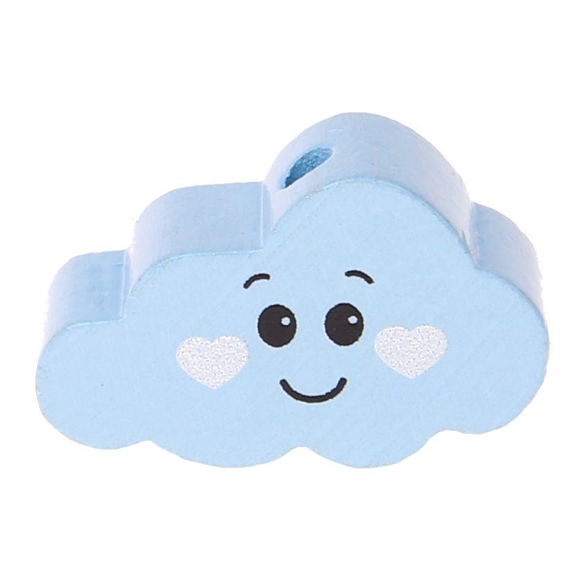 Motivperle Wolke Gesicht 'babyblau' 0 auf Lager