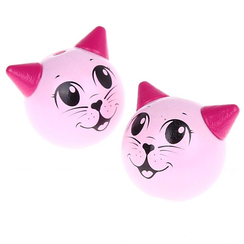 Motivperle 3D Katze 'pink' 0 auf Lager