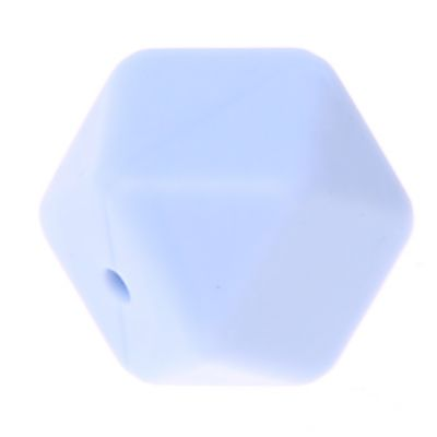 Hexagonperle Silikon 'babyblau' 0 auf Lager