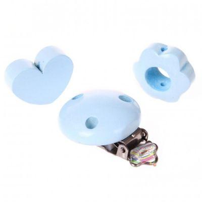 Schnullerketten Bastelset Mini 'babyblau' 0 auf Lager
