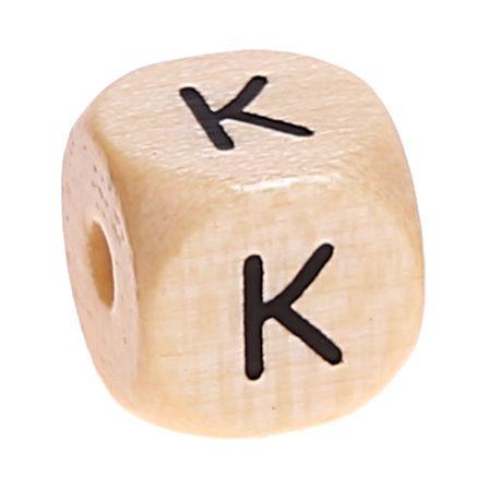 Buchstabenwürfel Holz geprägt 10 mm 'K' 676 auf Lager