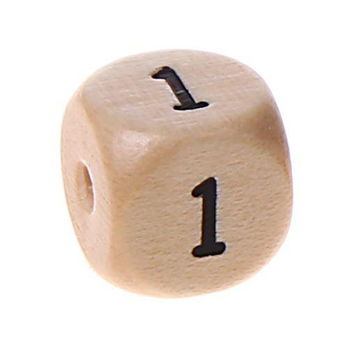 Zahlenperlen 10 mm geprägt '1' 1031 auf Lager