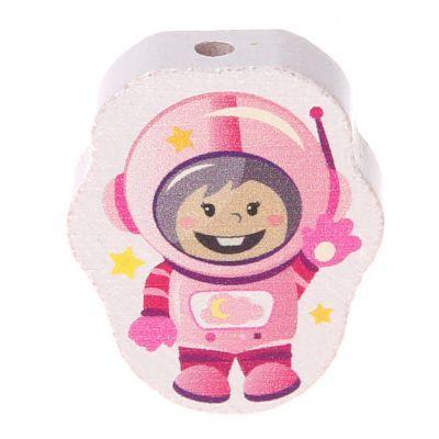Motivperle Astronaut 'rosa' 29 auf Lager