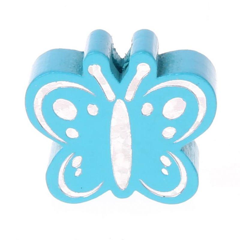 Motivperle Schmetterling Glitzer 'helltürkis' 307 auf Lager