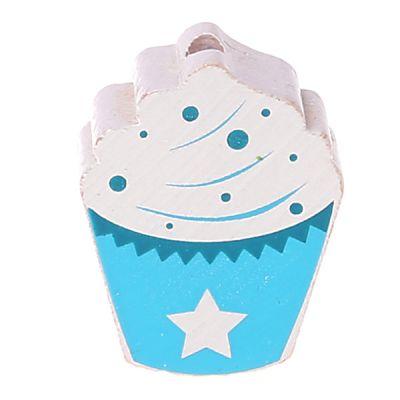 Motivperle Cupcake 'babyblau/türkis' 116 auf Lager