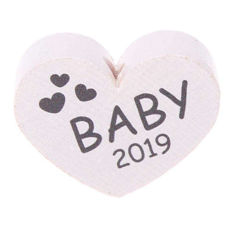 Motivperle Herz Baby 2019 'weiß' 99 auf Lager