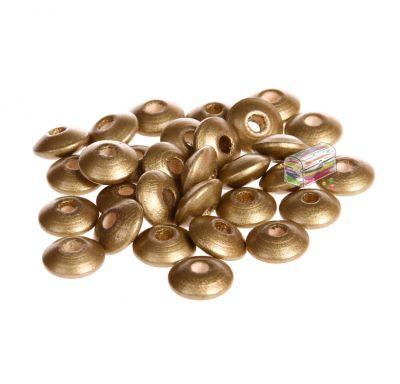 Holzlinsen 10mm • 50 Stück 'gold' 682 auf Lager