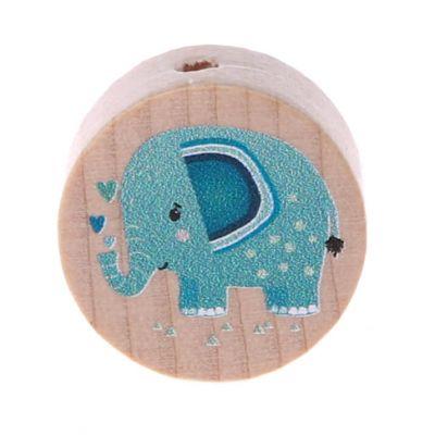 Motivperle Elefant (Scheibe) 'mint' 197 auf Lager