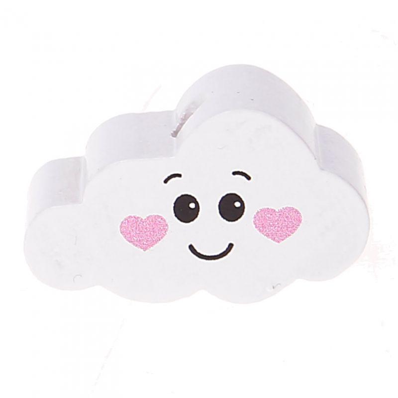 Motivperle Wolke Gesicht 'weiß-rosa' 121 auf Lager
