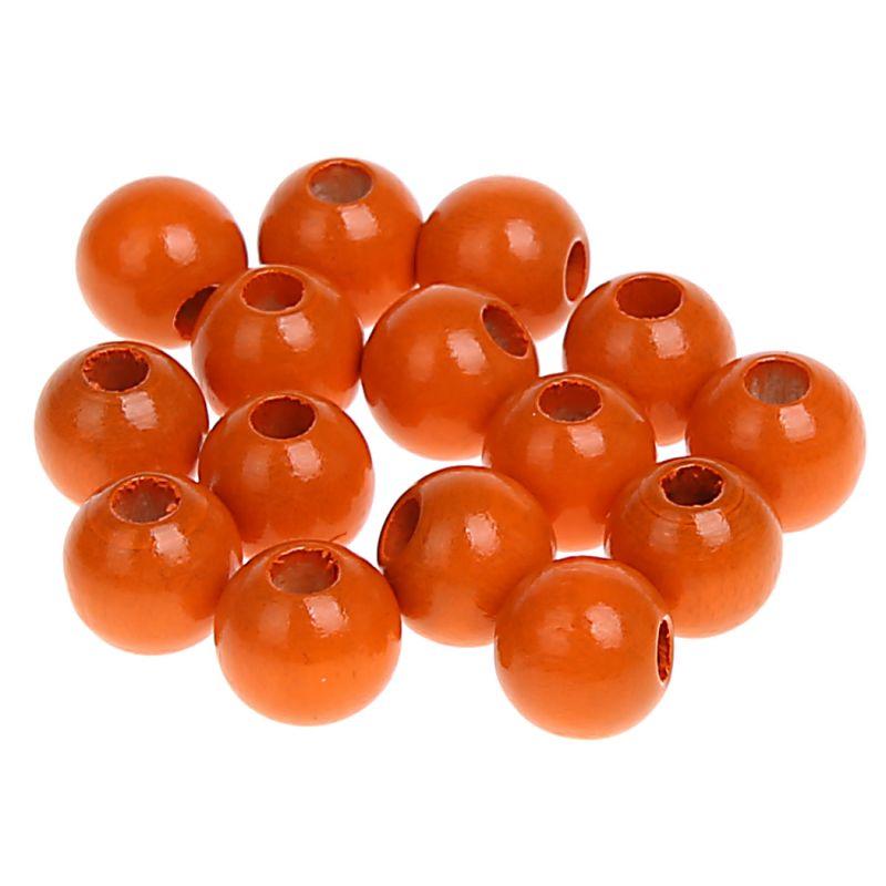 Holzperlen 8mm • 80 Stück 'mandarin' 34 auf Lager