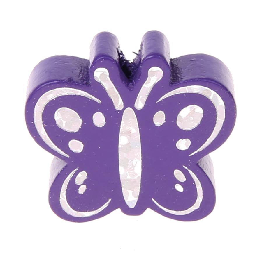 Motivperle Schmetterling Glitzer 'lila' 654 auf Lager