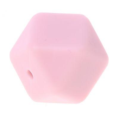 Hexagonperle Silikon 'rosa' 0 auf Lager