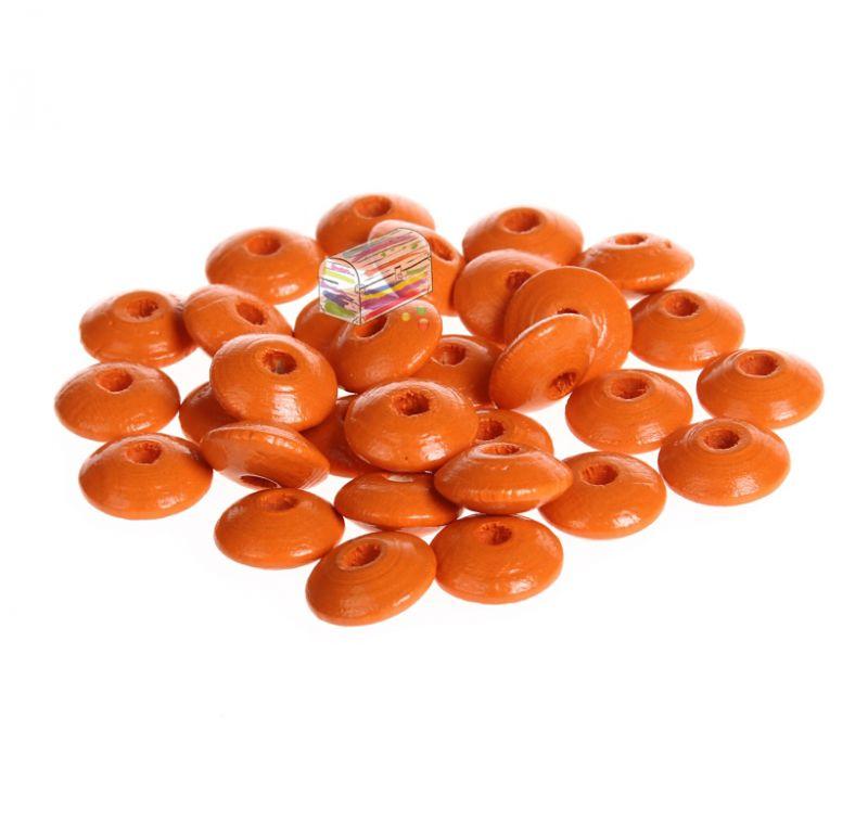Holzlinsen 10mm • 50 Stück 'mandarin' 0 auf Lager
