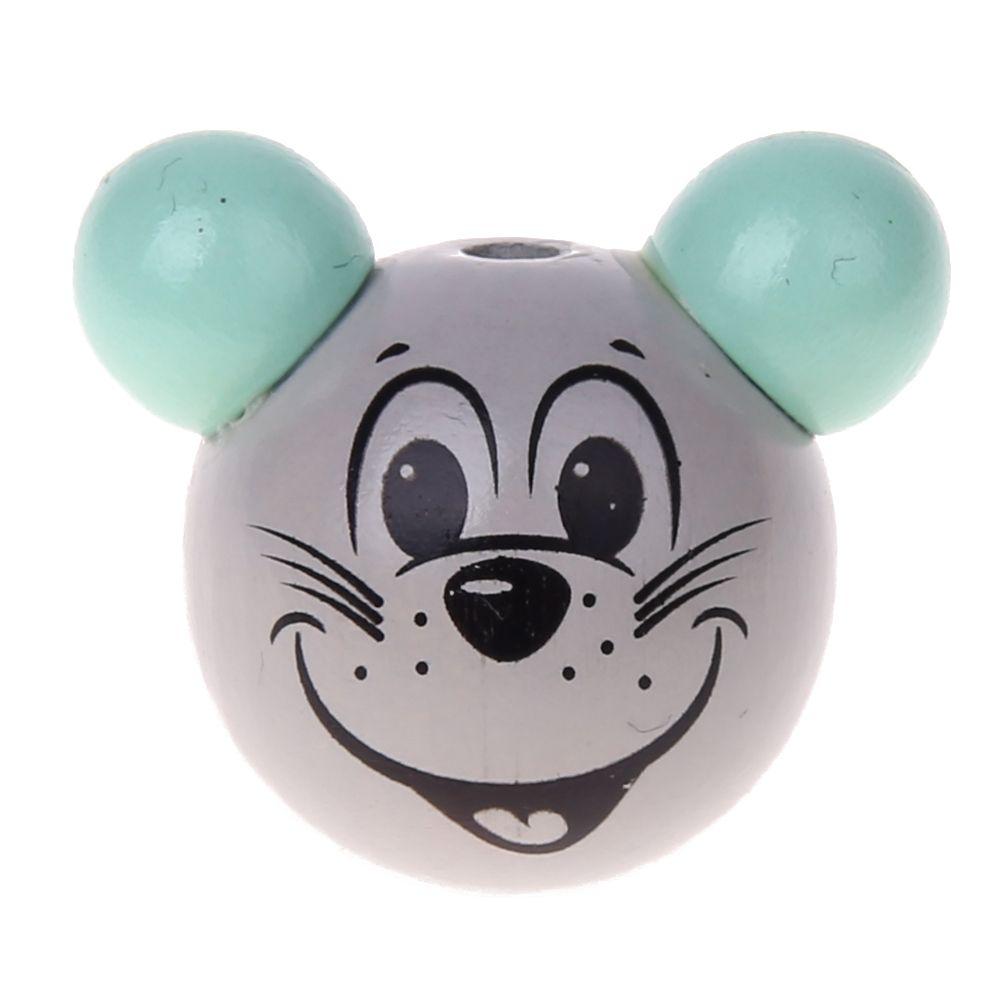 Motivperle 3D Maus 'mint' 535 auf Lager