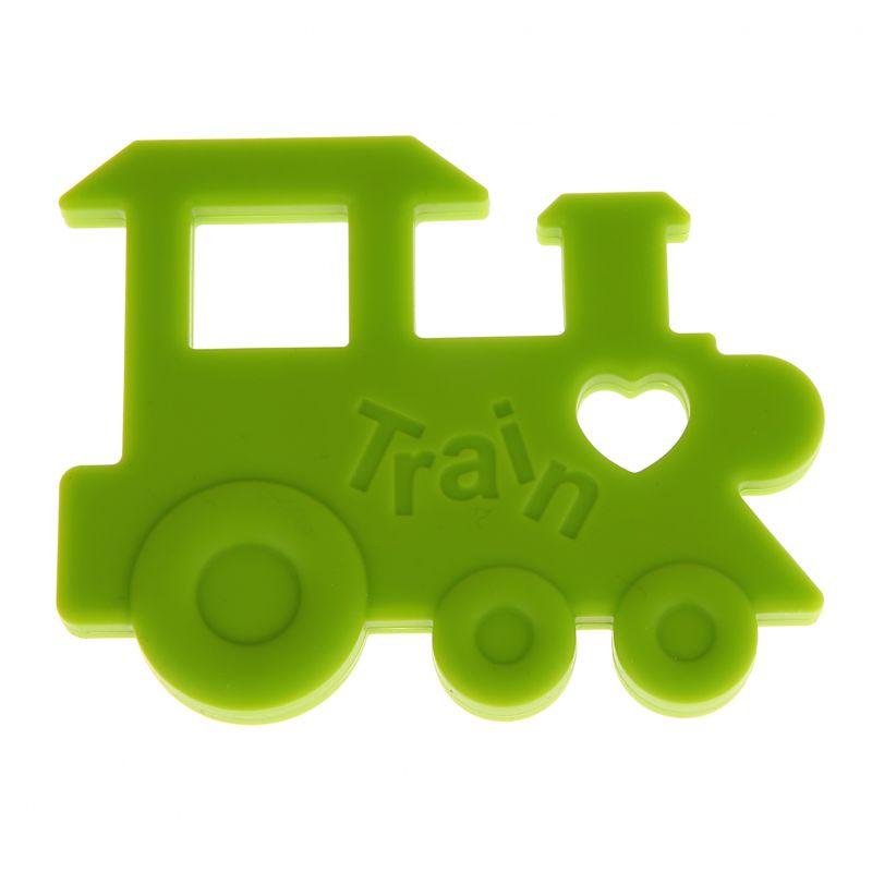Beißring Lokomotive 'gelbgrün' 0 auf Lager