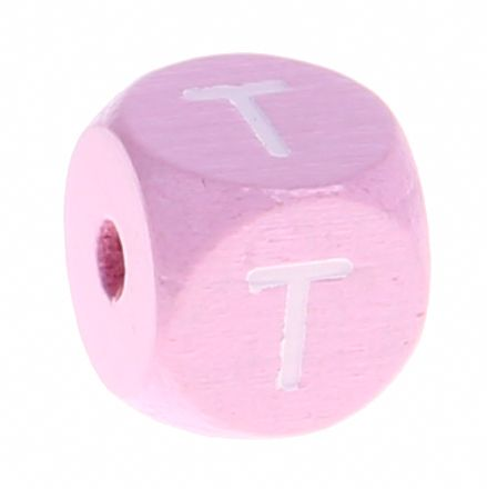 Holzbuchstaben Rosa 10 mm x 10 mm 'T' 556 auf Lager