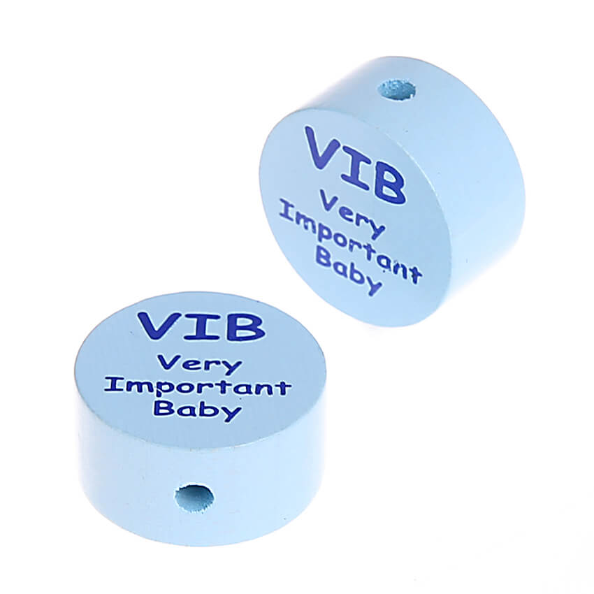 Motivperle Scheibe VIB Very Important Baby 'babyblau' 979 auf Lager