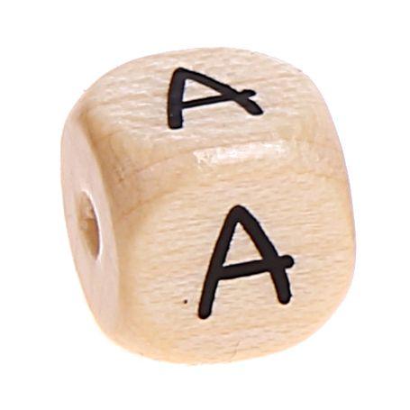 Buchstabenwürfel Holz geprägt 10 mm 'A' 4308 auf Lager