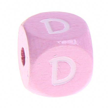 Holzbuchstaben Rosa 10 mm x 10 mm 'D' 851 auf Lager