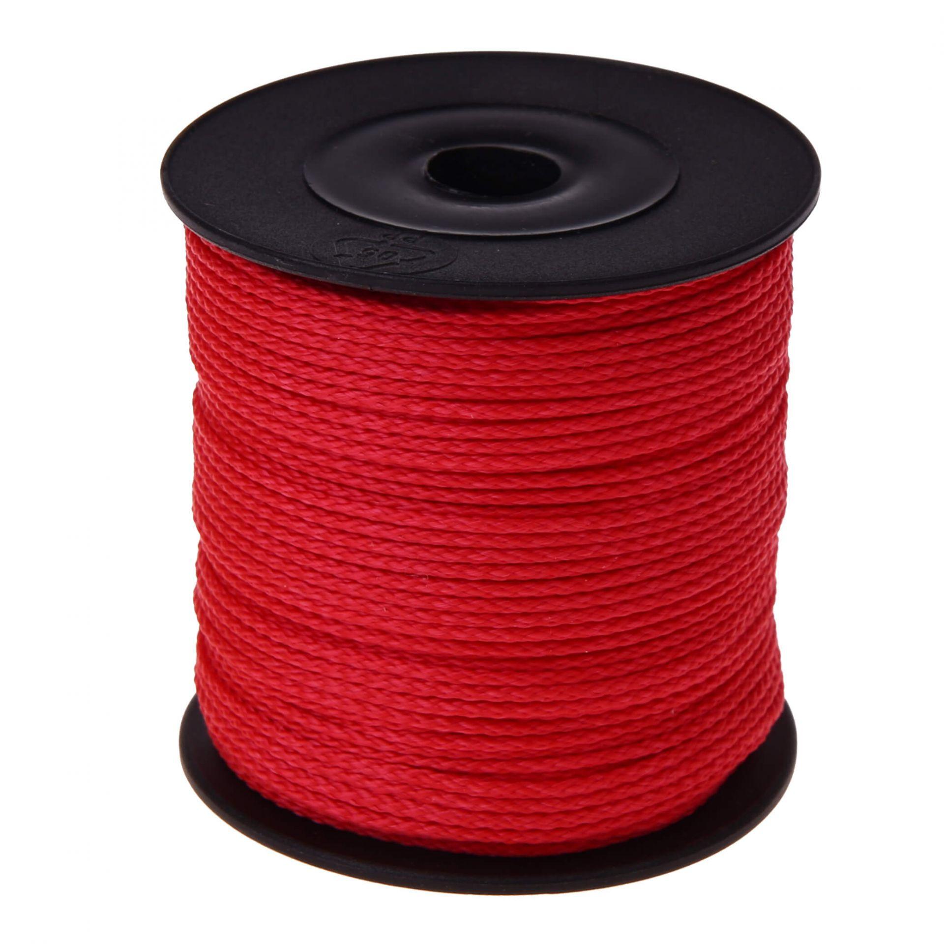 Polyester-Faden Ø 1,5mm • 1 Meter 'rot' 181 auf Lager
