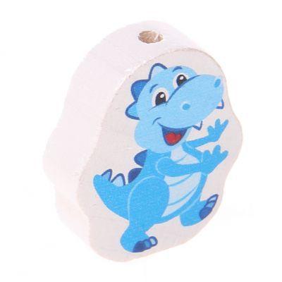 Motivperle Dino 'babyblau' 14 auf Lager