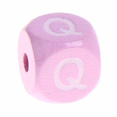 Holzbuchstaben Rosa 10 mm x 10 mm 'Q' 350 auf Lager