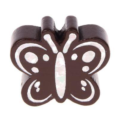 Motivperle Schmetterling Glitzer 'braun' 210 auf Lager