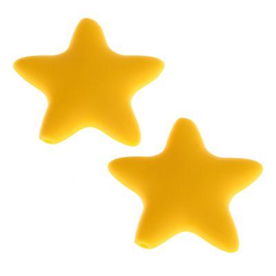 Silikonmotiv Stern 'gelb' 49 auf Lager