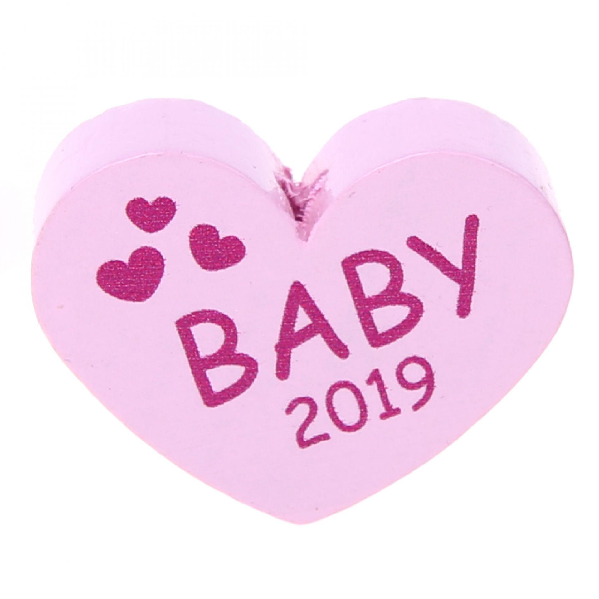 Motivperle Herz Baby 2019 'rosa' 0 auf Lager