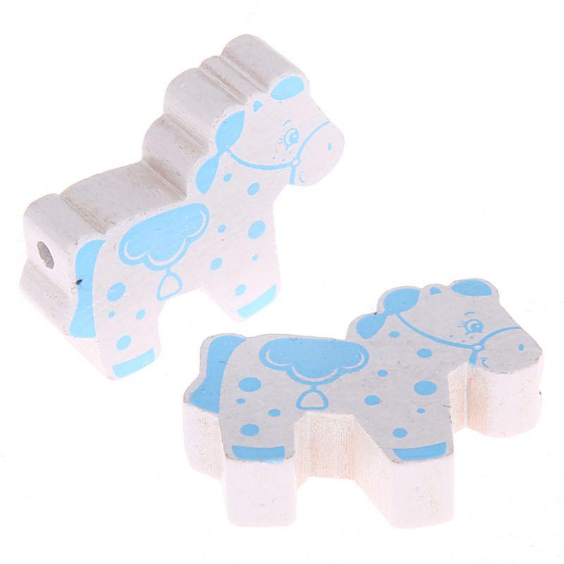 Motivperle Pferd 'weiß-babyblau' 522 auf Lager
