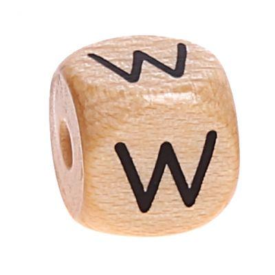 Buchstabenwürfel Holz geprägt 10 mm 'W' 2806 auf Lager