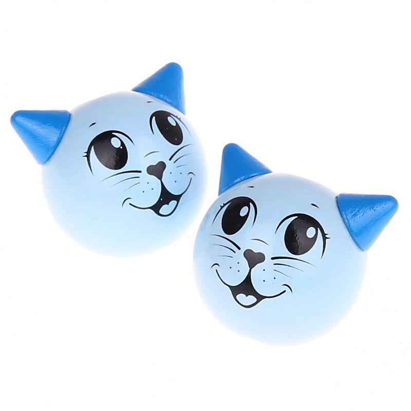 Motivperle 3D Katze 'babyblau' 1099 auf Lager