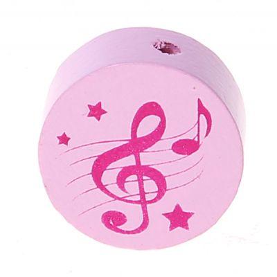 Motivperle Scheibe Notenschlüssel 'rosa-pink' 615 auf Lager