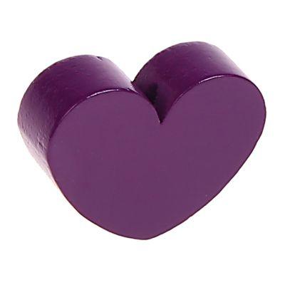 Motivperle Formperle Herz Groß 'purpur' 393 auf Lager