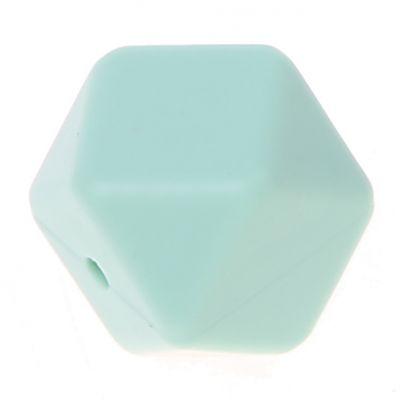 Hexagonperle Silikon 'mint' 0 auf Lager